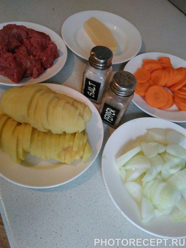 Фото рецепта - Картофельная запеканка с фаршем - шаг 1