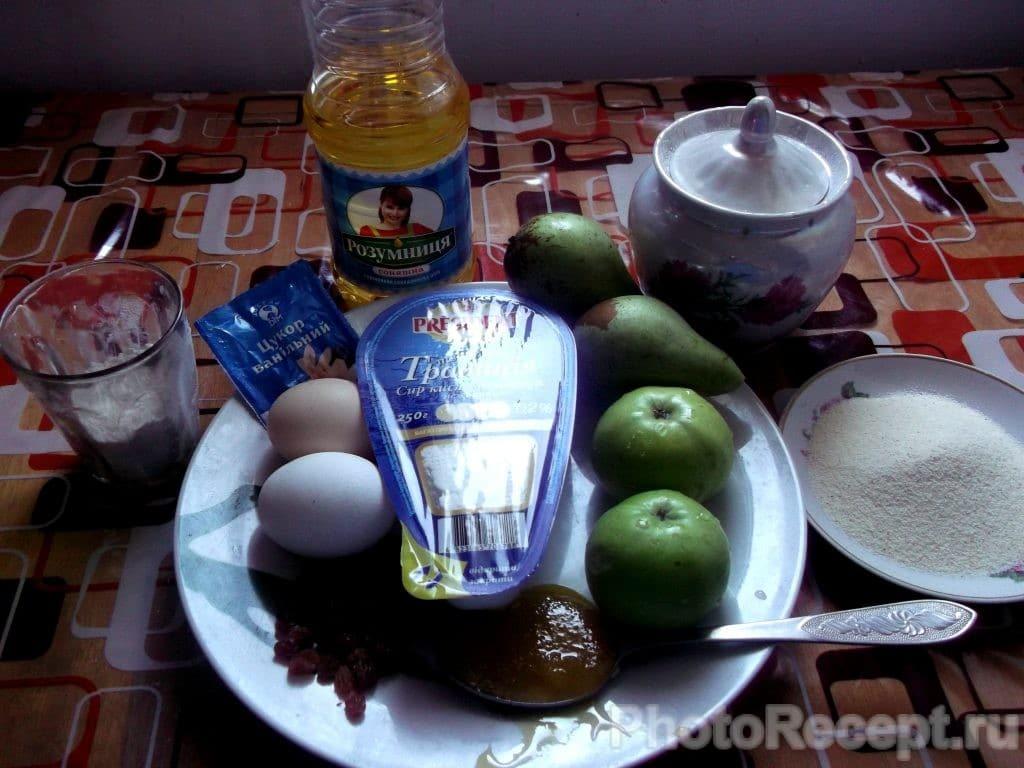 Фото рецепта - Сырники с карамелизированными фруктами - шаг 1