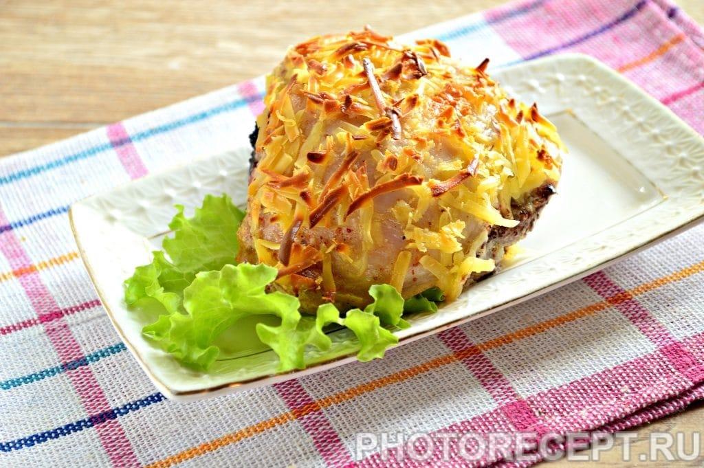 Фото рецепта - Куриные бедрышки в сметане под сырной корочкой - шаг 10