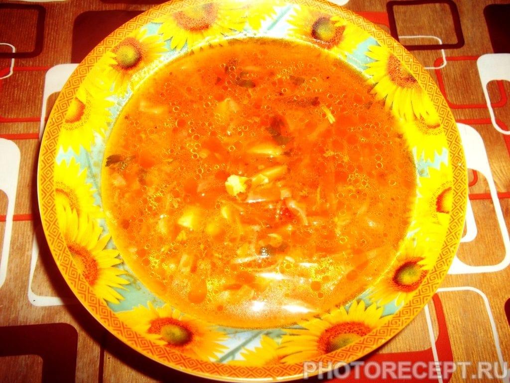 Фото рецепта - Классический борщ с фасолью - шаг 12