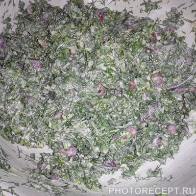 Фото рецепта - Грузинский салат с фасолью - шаг 7