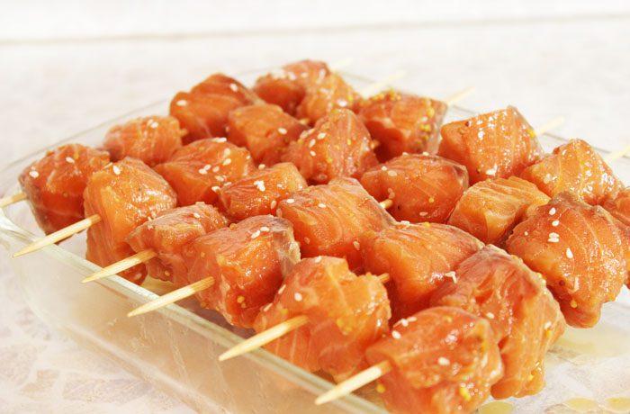 Фото рецепта - Шашлык из рыбы, маринованный в соевом соусе - шаг 4