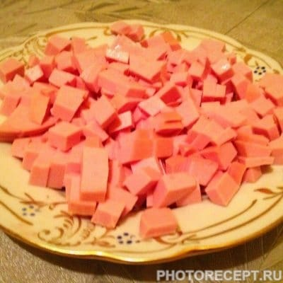 Фото рецепта - Сборная солянка с колбасой и копченой курицей - шаг 7
