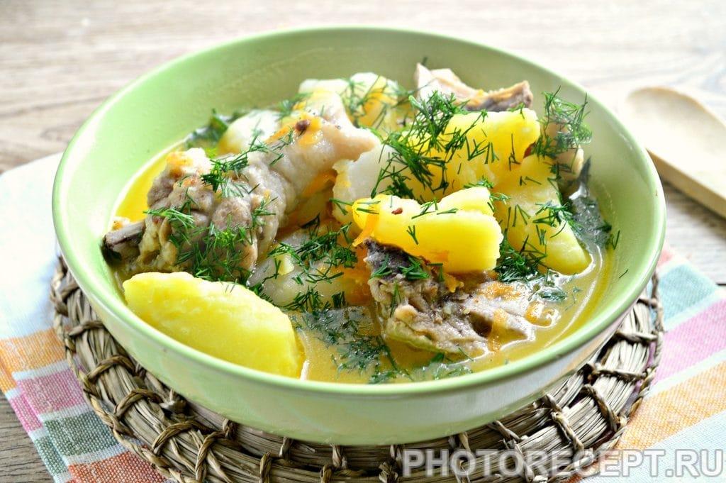 Фото рецепта - Курица, тушенная с картошкой - шаг 7