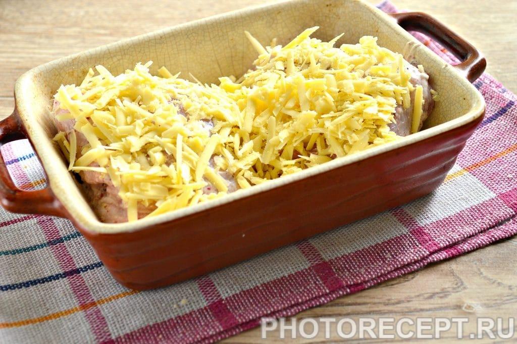 Фото рецепта - Куриные бедрышки в сметане под сырной корочкой - шаг 8