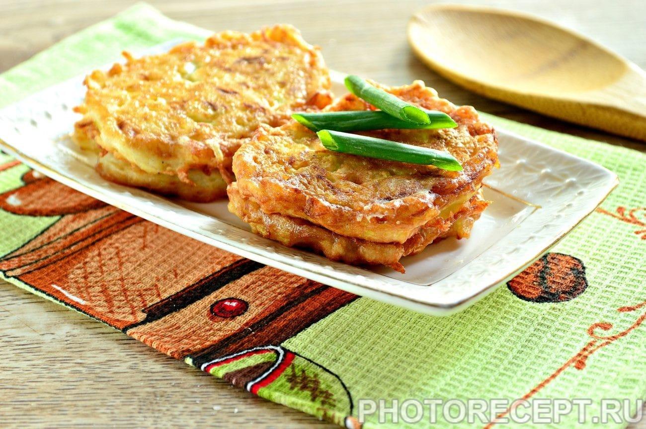 Оладьи из кабачка с рисом