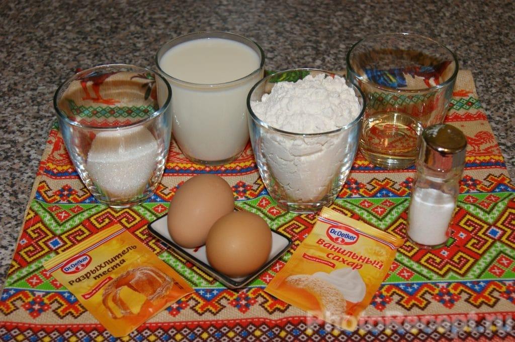 Фото рецепта - Ванильные оладьи на молоке - шаг 1