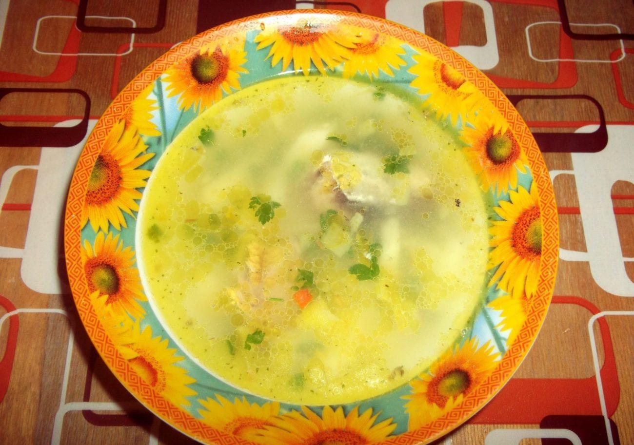 Рыбный суп из консервированной сардины
