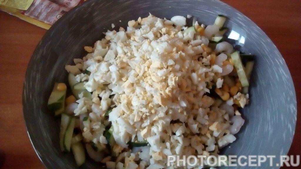 Фото рецепта - Салат с креветками и рисом - шаг 7
