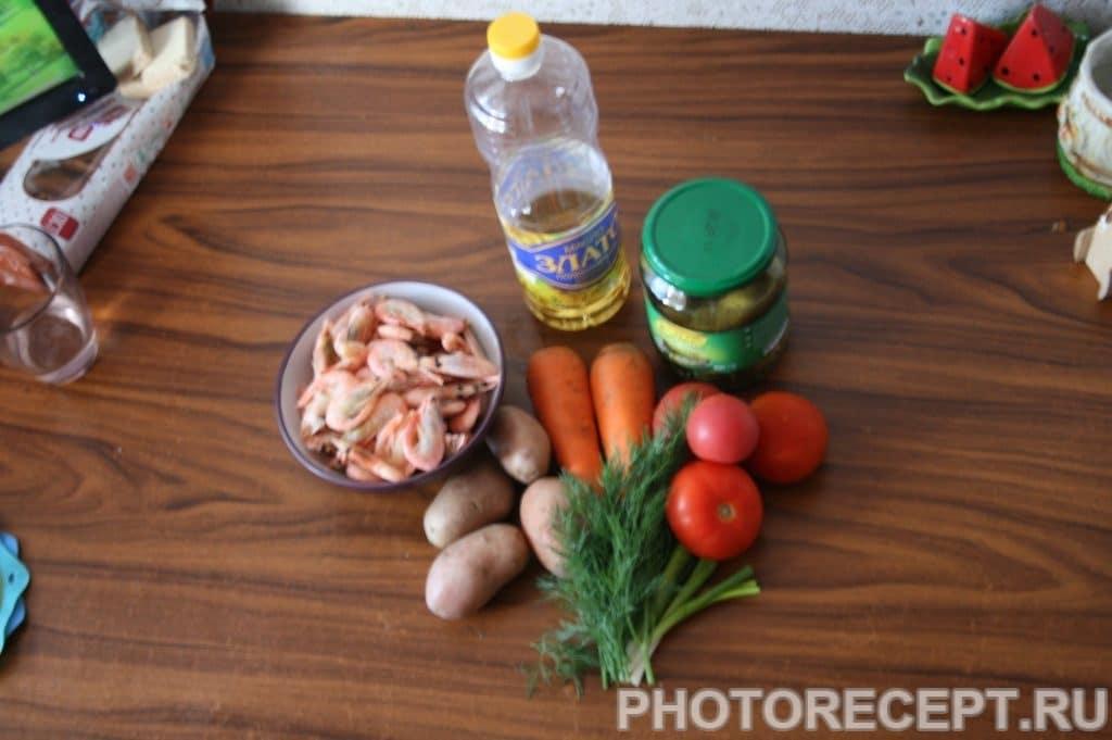 Фото рецепта - Салат с креветками оригинальный - шаг 1