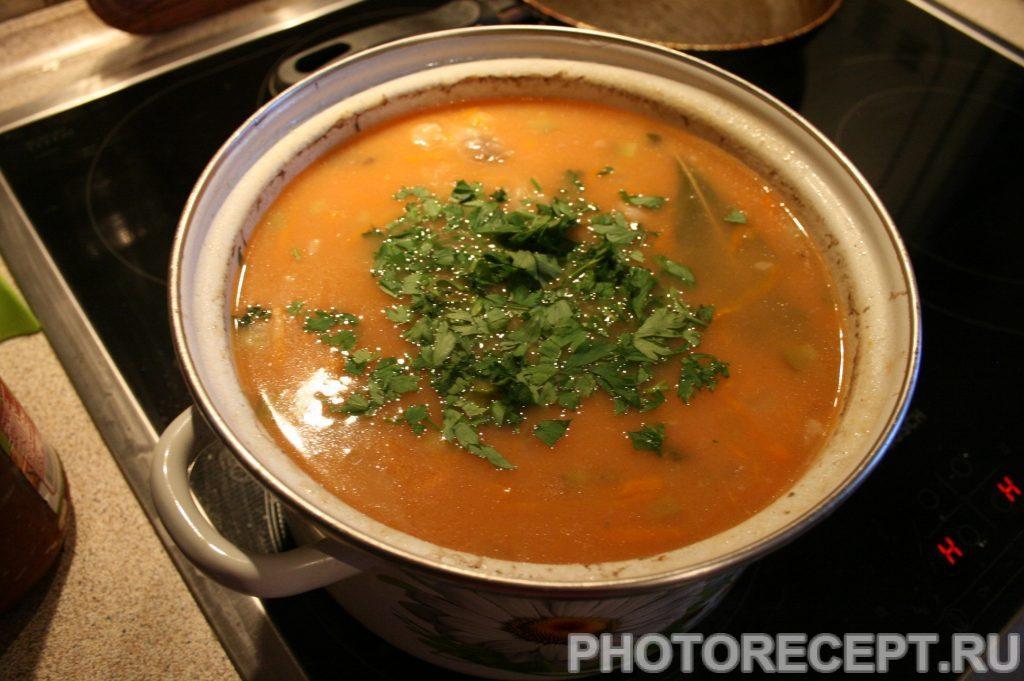 Фото рецепта - Рассольник классический на мясном бульоне - шаг 19