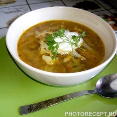 Щи из свежей капусты и курицы - рецепт с фото