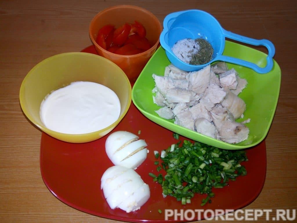 Фото рецепта - Салат с курицей - шаг 3