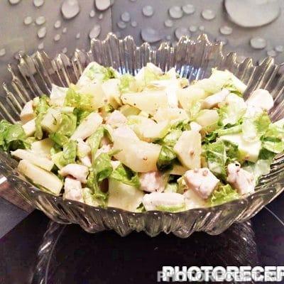 """Салат с ананасом """"Экзотика"""" - рецепт с фото"""