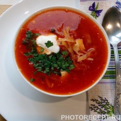 Борщ без мяса - рецепт с фото