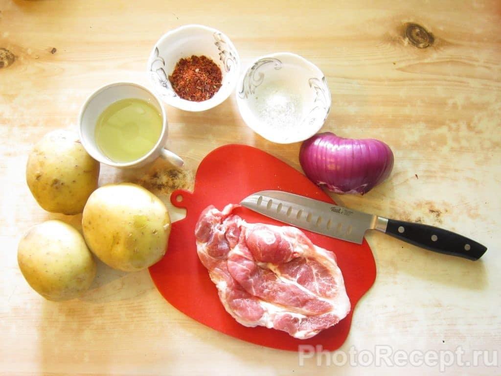 Фото рецепта - Жареная картошка с мясом - шаг 1