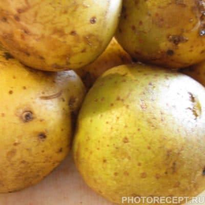 Фото рецепта - Курица с картошкой и яблоком на углях - шаг 2