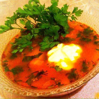 Пикантный суп харчо - рецепт с фото