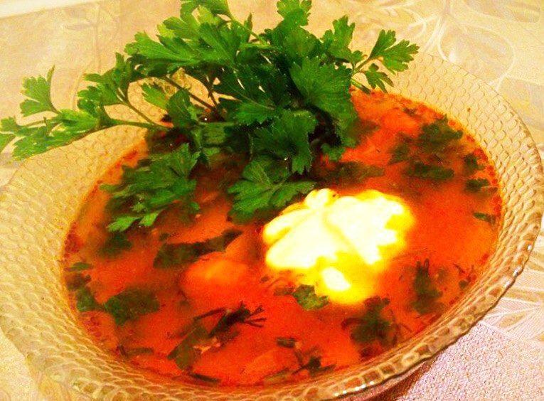 Пикантный суп харчо