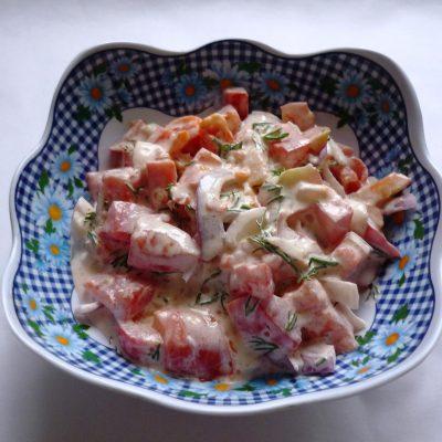Салат из помидоров «Подарок осени» - рецепт с фото