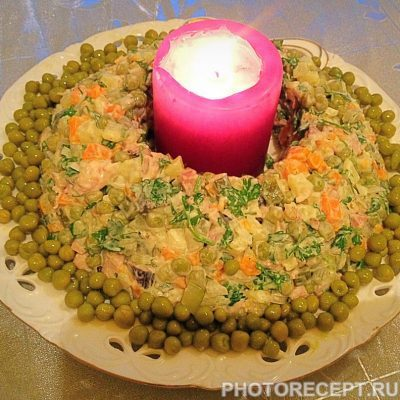 Фото рецепта - Классический салат Оливье с курицей - шаг 11
