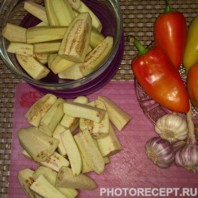 "Фото рецепта - Баклажаны на зиму ""Острые"" - шаг 1"