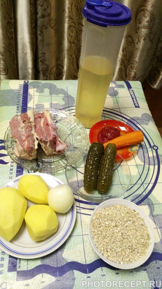 Фото рецепта - Рассольник с перловкой - шаг 1