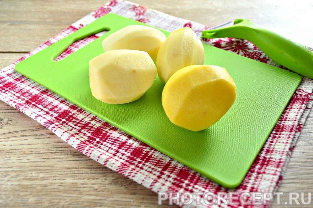 Фото рецепта - Запеченная картошка в духовке с майонезом - шаг 1