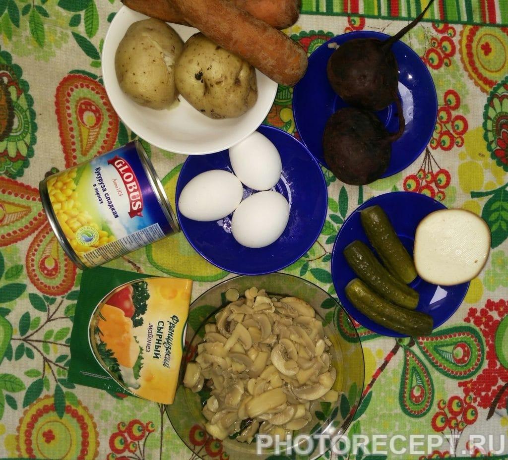 Фото рецепта - Овощной слоёный салатик - шаг 1