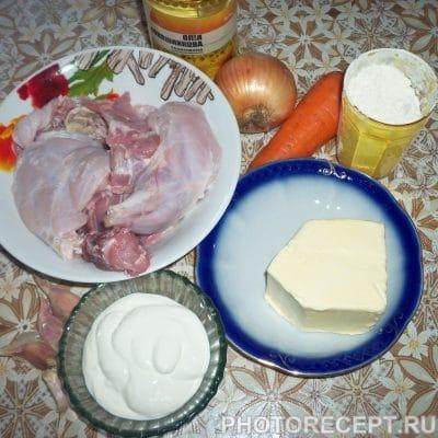 Фото рецепта - Мясо кролика тушеное в сметанно-чесночной заливке - шаг 1