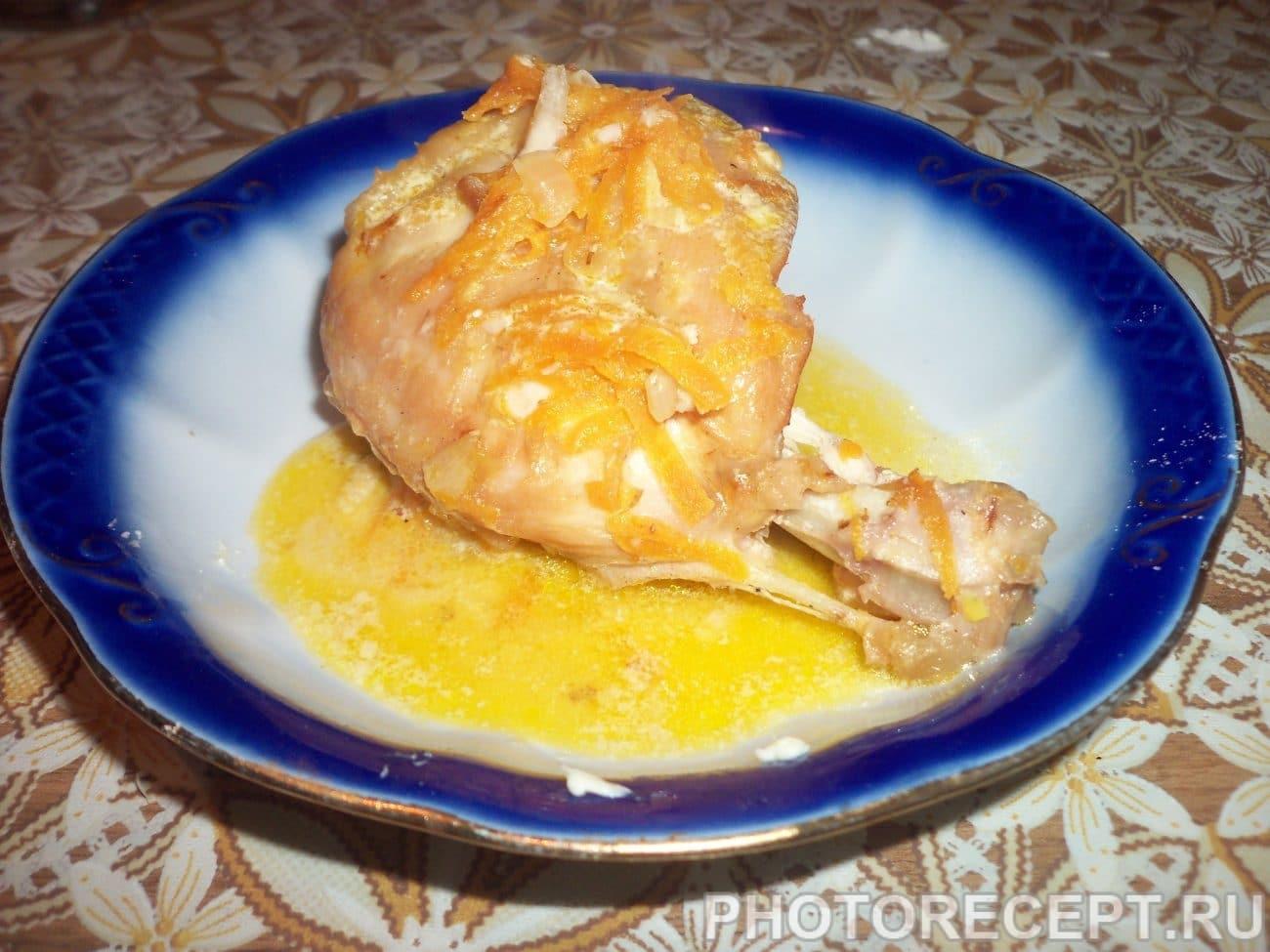 Мясо кролика тушеное в сметанно-чесночной заливке