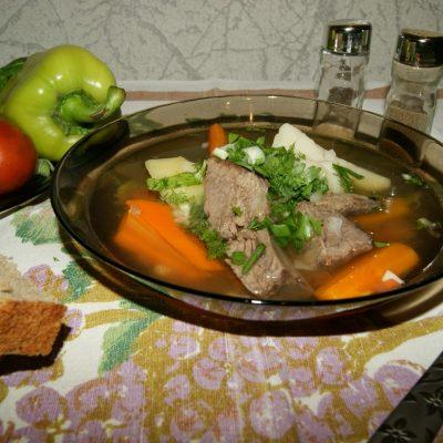 Шурпа из говядины с картофелем - рецепт с фото