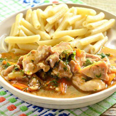 Мясо с овощами на сковороде - рецепт с фото