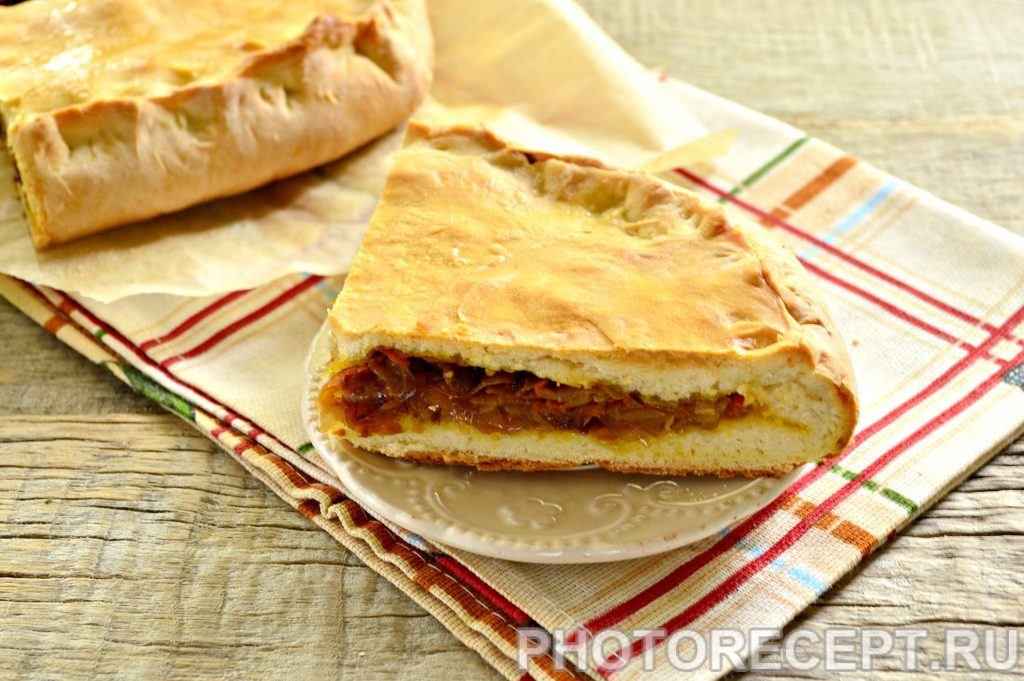 Фото рецепта - Мясной пирог с капустой - шаг 9