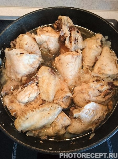 Курица тушеная