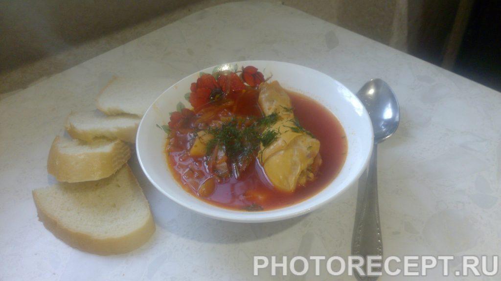 Фото рецепта - Борщ с курицей - шаг 9
