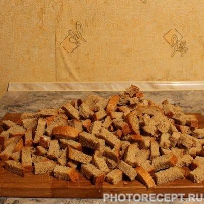 Фото рецепта - Гренки со вкусом грибов - шаг 1