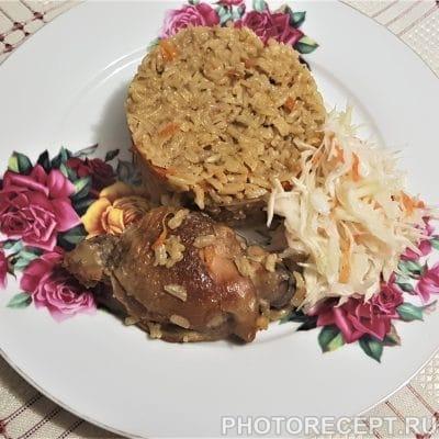 Плов с домашней курицей - рецепт с фото
