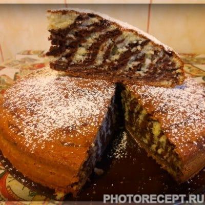 """Кекс """"Зебра"""" - рецепт с фото"""