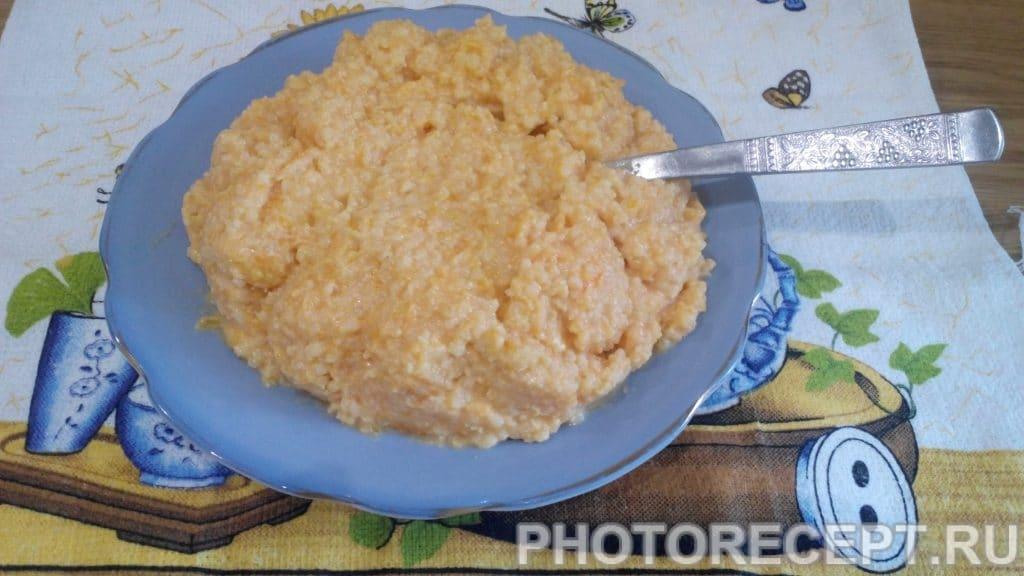 Фото рецепта - Молочная пшенная каша с тыквой - шаг 6