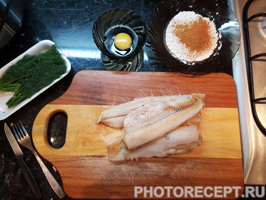 Фото рецепта - Минтай в кляре на сковороде - шаг 1