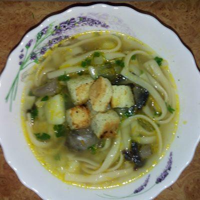Грибной суп с лапшой - рецепт с фото