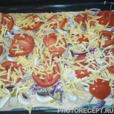 Фото рецепта - Пицца с куриной грудкой и грибами - шаг 13