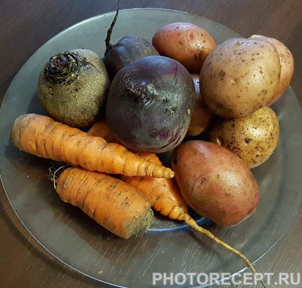 Фото рецепта - Винегрет с квашеной капустой - шаг 1