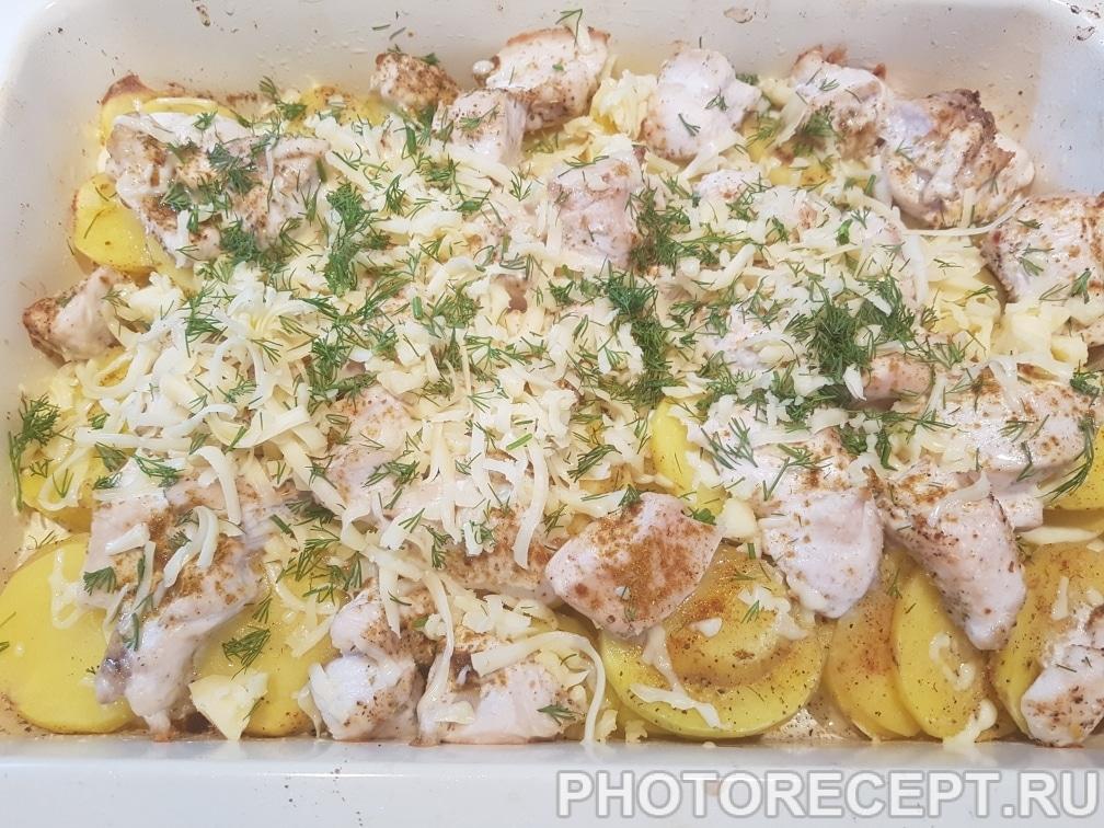 Фото рецепта - Курица с картошкой и сыром - шаг 6