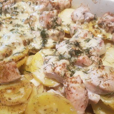 Курица с картошкой и сыром - рецепт с фото
