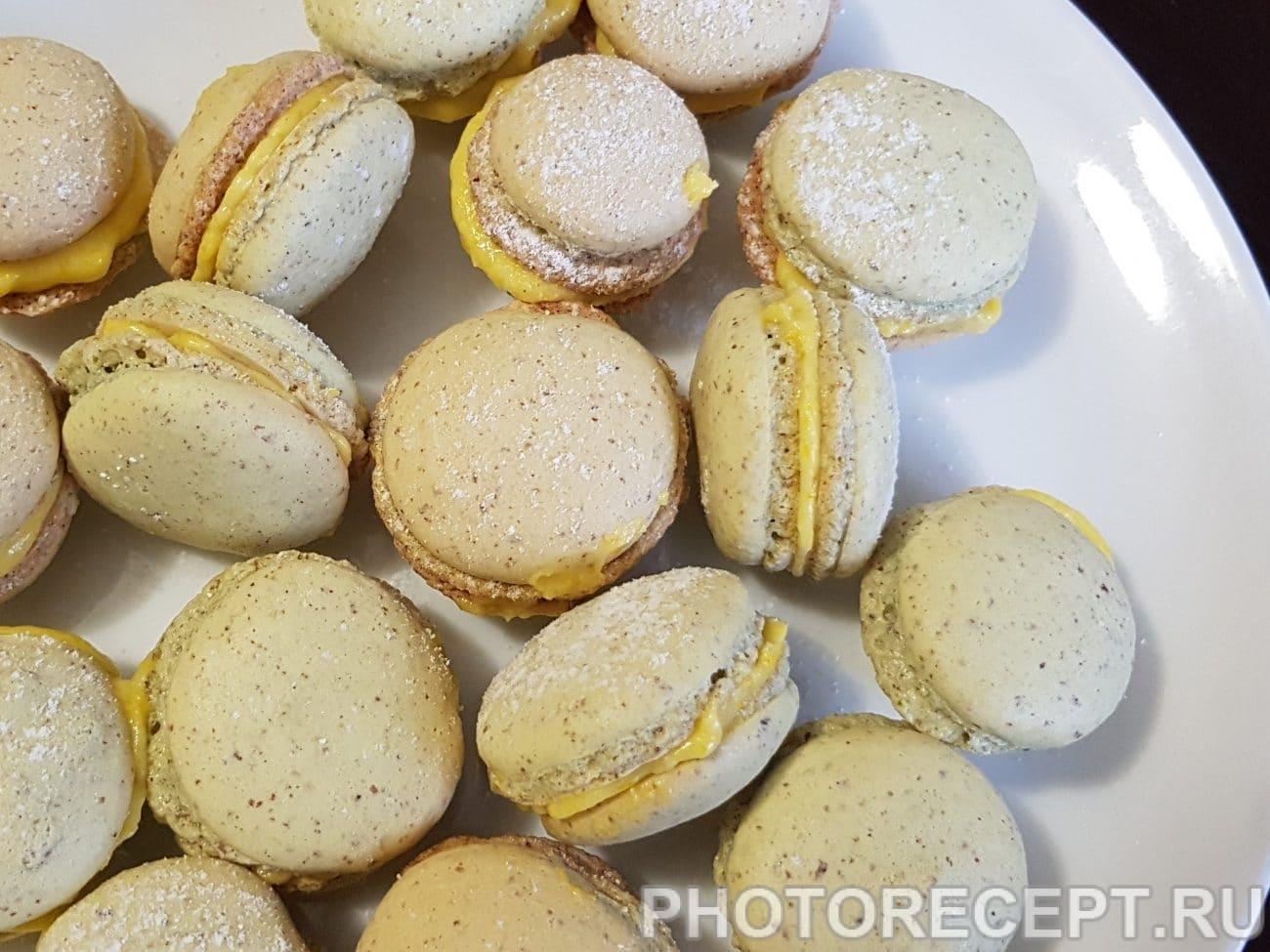 Печенье-безе макарон с лимонным курдом