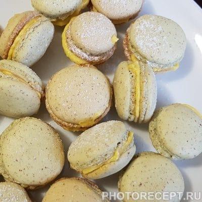 Печенье-безе макарон с лимонным курдом - рецепт с фото