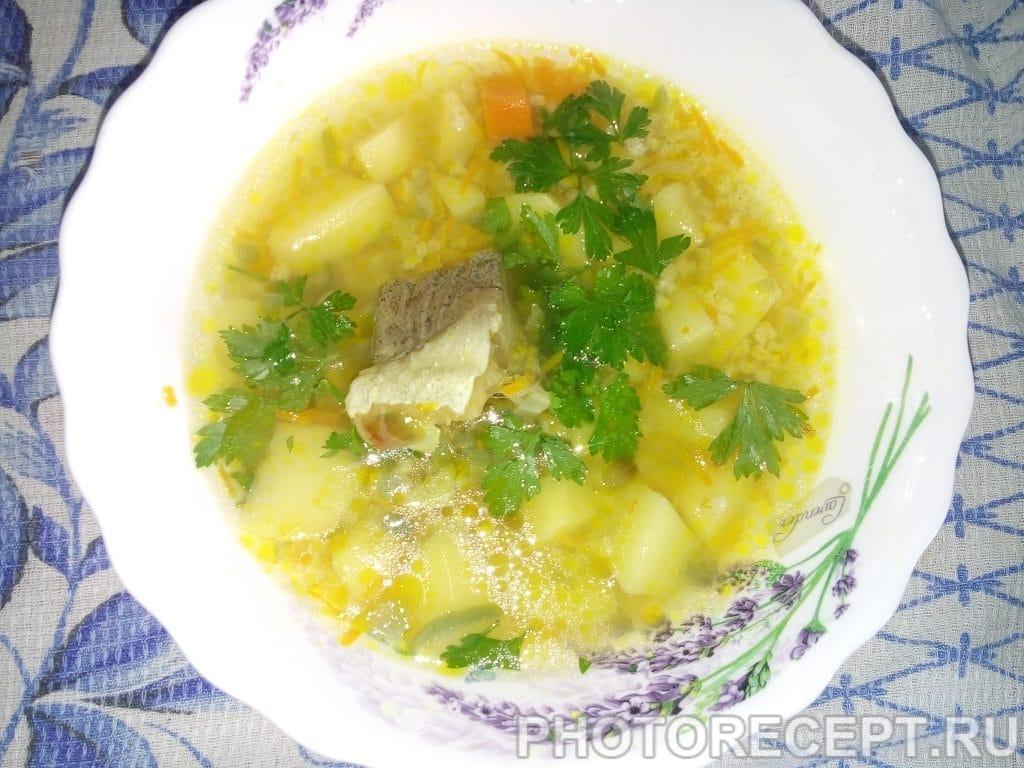 Фото рецепта - Рыбный суп с пшеном - шаг 5