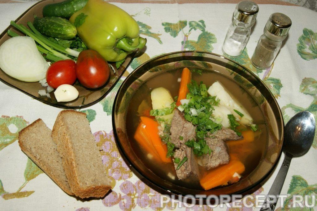 Фото рецепта - Шурпа из говядины с картофелем - шаг 6